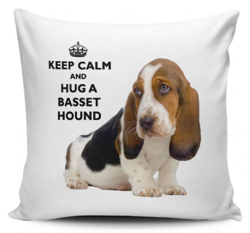 Keep Calm And Hug A Basset Hound Cushion Cover